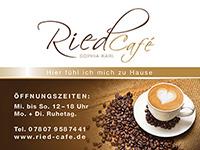 Außenschild Ried Café